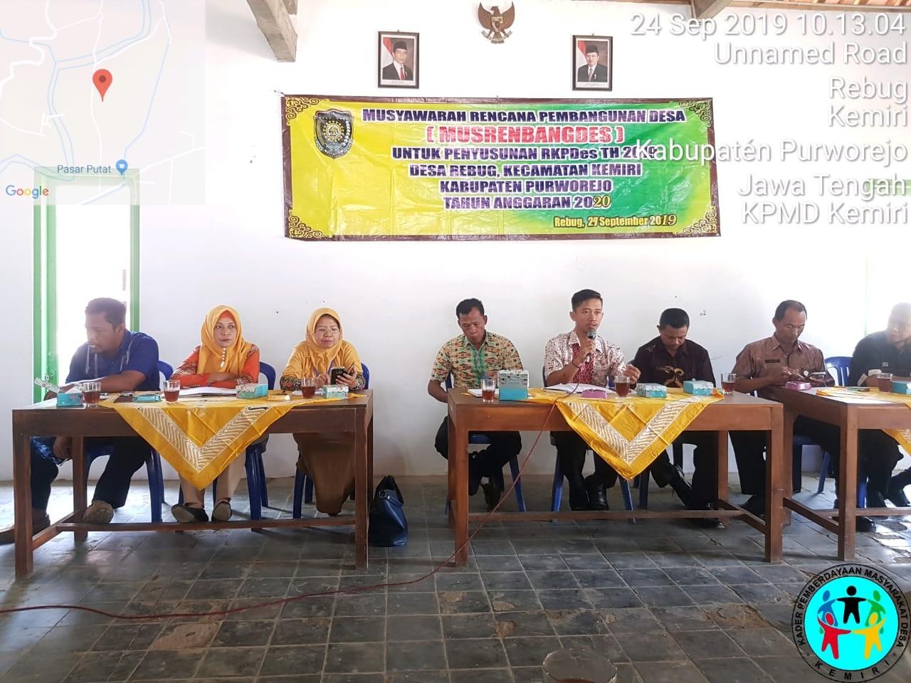 Musrenbangdes Rebug Tahun 2019 Kecamatan Kemiri