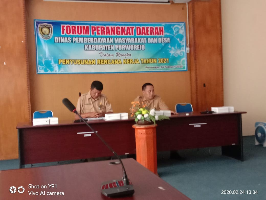 Forum OPD Dinas Dinpermasdes Tahun 2020